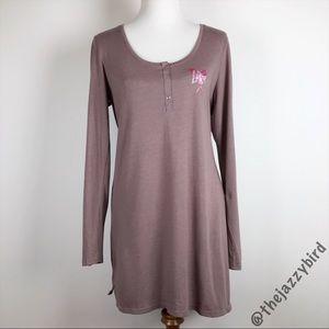 Victoria's Secret Scoop Henley Long Pajama Shirt